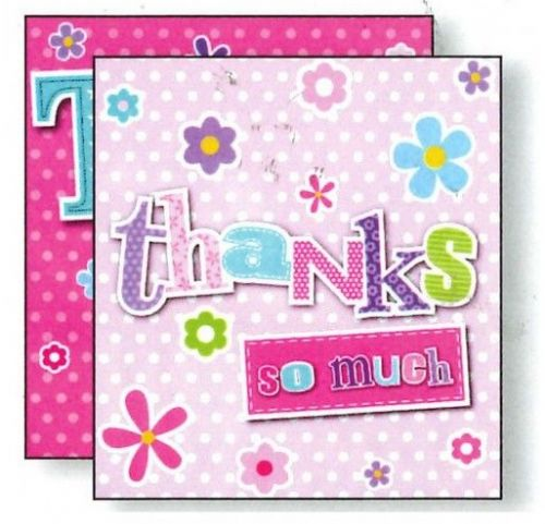 8 Cards & Envelopes - Thank You - TP501